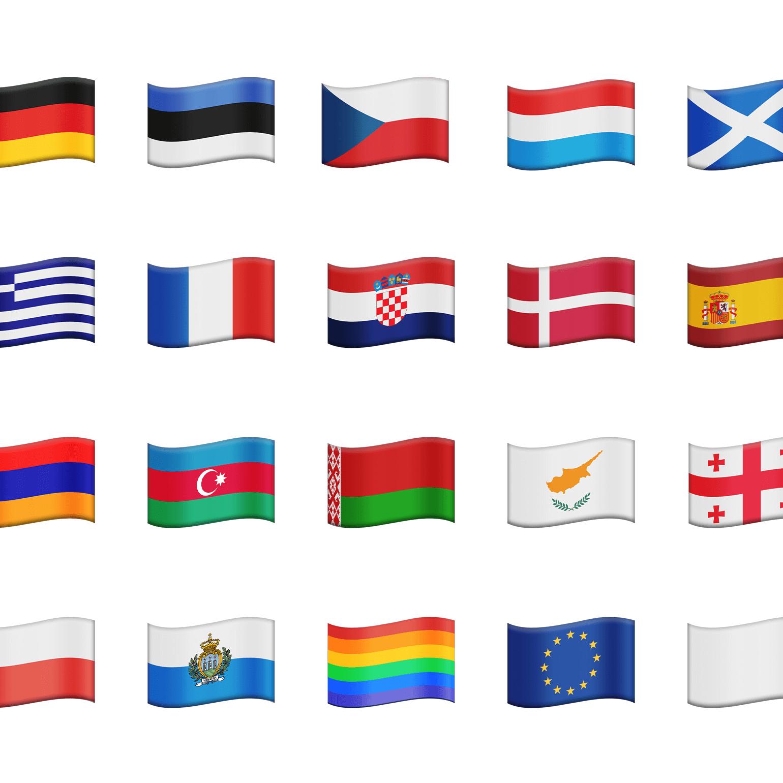 Vector Emoji Flags Europe